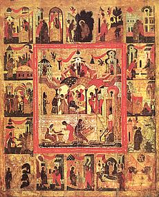 Рождество Пресвятой Богородицы (с клеймами)